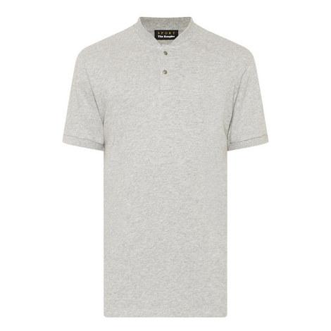 Button Down Crew Neck T-Shirt, ${color}