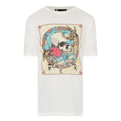 Octopus Skull Print T-Shirt, ${color}