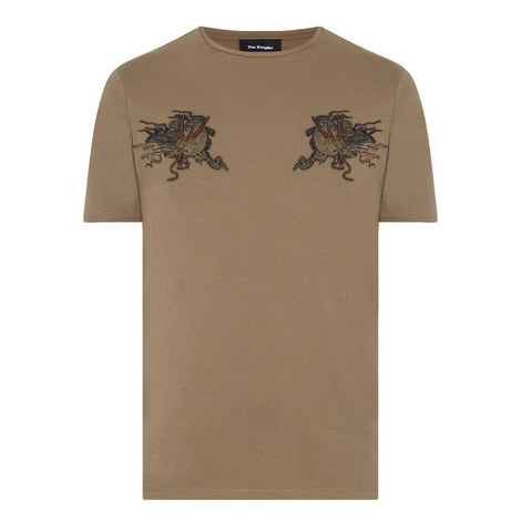 Dragon Embroidered T-Shirt, ${color}