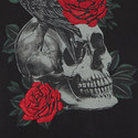 Skull and Roses T-Shirt, ${color}