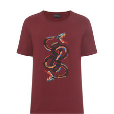 Snake Embroidery T-Shirt