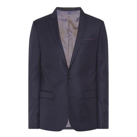 Micro-Motif Suit Jacket, ${color}