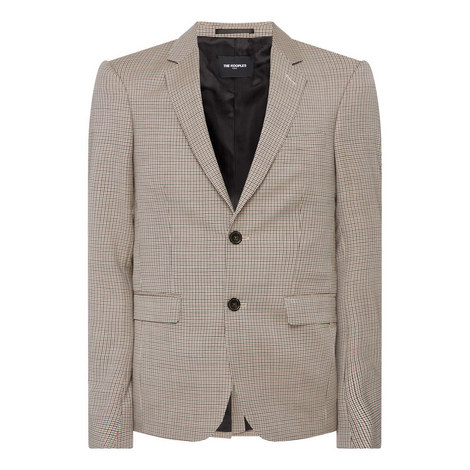 Micro Houndstooth Jacket, ${color}