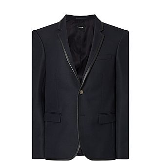 Trim Wool Blazer