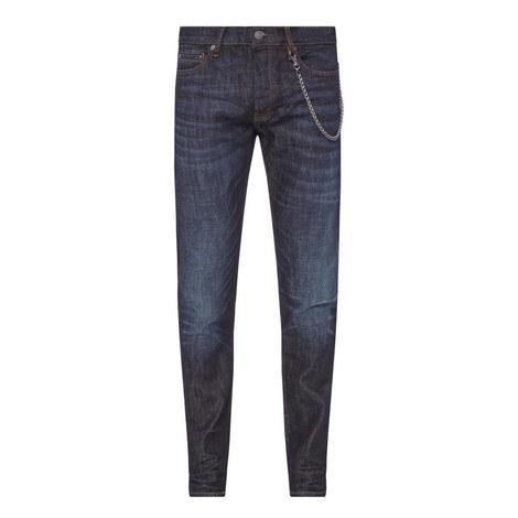 Chain Detail Slim Jeans, ${color}