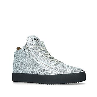 Glitter Mid-Top Trainers