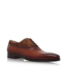 Suede-Leather Mix Oxfords