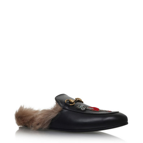 Princetown Shearling Appliqué Loafers, ${color}