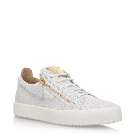 Frankie Croc-Embossed Sneakers, ${color}