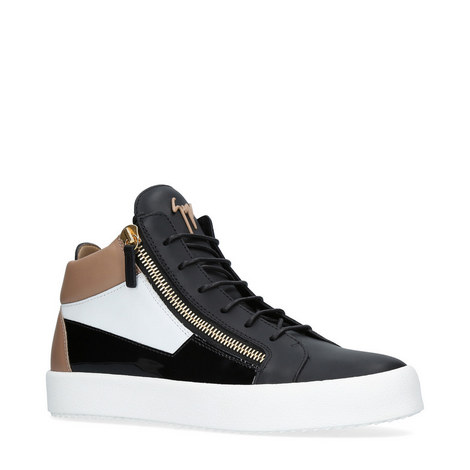 Mixed High Top Trainers, ${color}