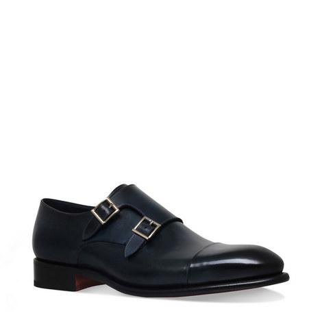 Carter Double Strap Monk Shoes, ${color}
