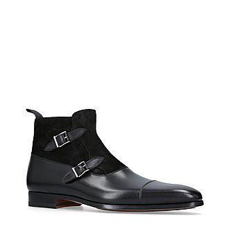 Double Monk Buckle Boots
