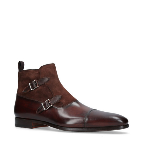 Monk Strap Ankle Boots, ${color}