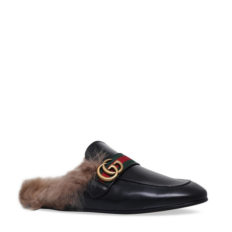 Princetown GG Shearling Loafers, ${color}