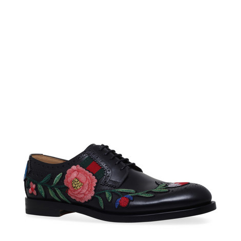 Embroidered Web Brogues, ${color}