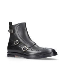 Triple Buckle Monk Strap Boots