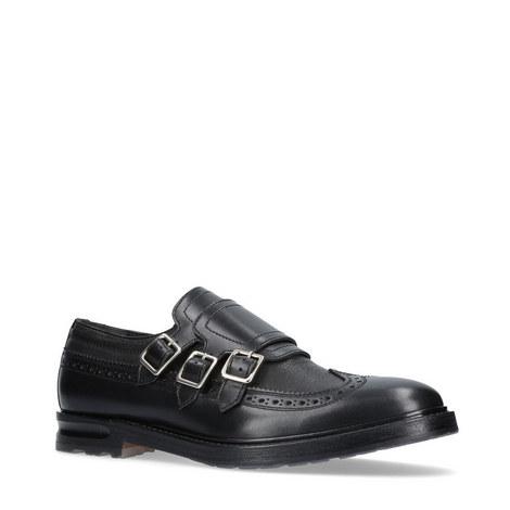 Triple Buckle Monk Strap Shoes, ${color}