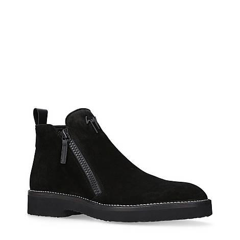 Double Zip Logo Boots, ${color}