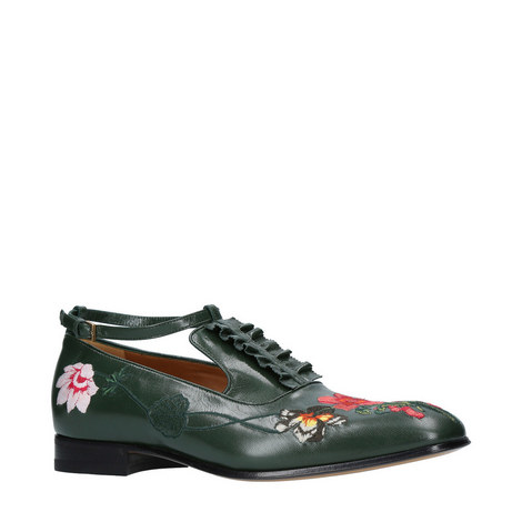 Thesis Embroidered Leather Shoe Brogues, ${color}
