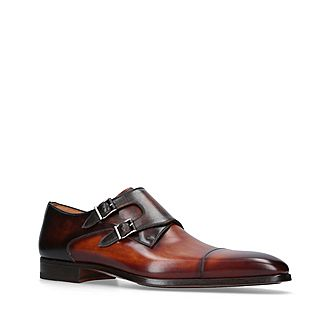 Double Strap Leather Shoes