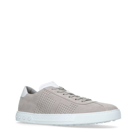 Casseta Perforated Suede Trainers, ${color}
