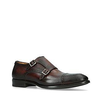 Flex Grained Monk Shoes