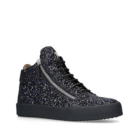 Glitter High Top Trainers, ${color}