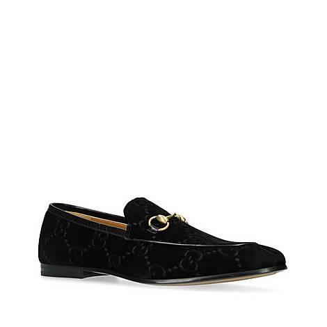 Jordan Velvet GG Loafers, ${color}