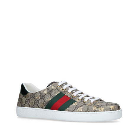 453617f1e86 GUCCI New Ace Golden Bee Trainers