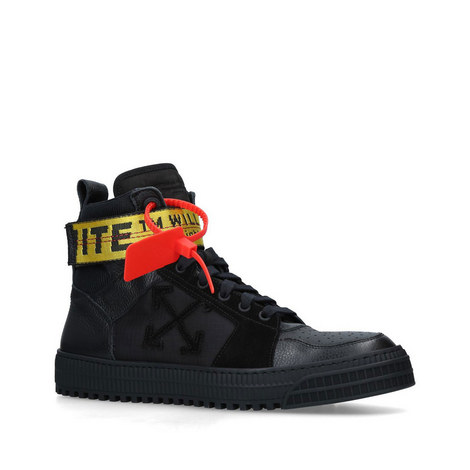 Industrial Belt High Top Trainers, ${color}