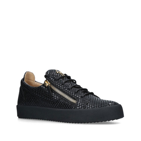 Snake Print Low Top Trainers, ${color}
