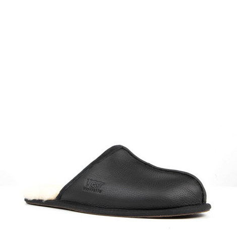 Scuff Leather Slippers, ${color}