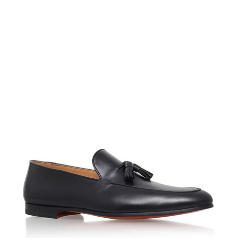 Leather Tasselled Loafers, ${color}