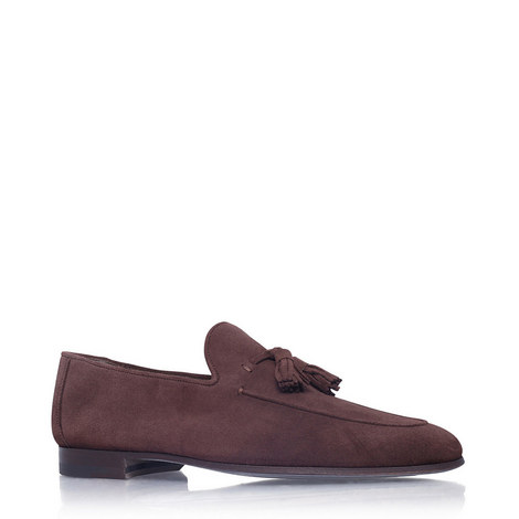 Suede Tasselled Loafers, ${color}
