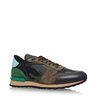 Leather Camouflage Trainers