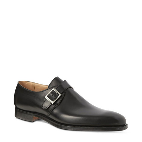 Single Buckle Monk Strap Shoes, ${color}