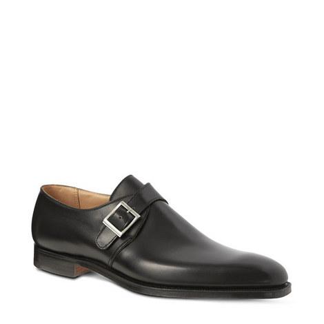 Single Buckle Monk Strap Shoes, ${color}