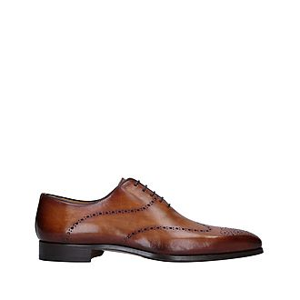 Burnished Punched Oxford Shoes