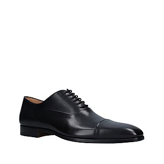 Plain Toe Cap Oxford Shoes