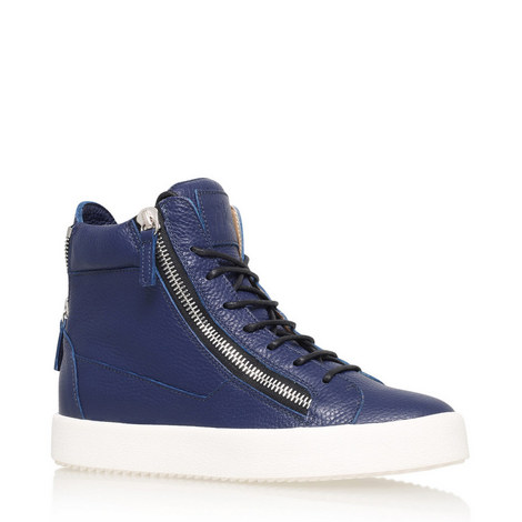 Zip High Top Trainers, ${color}