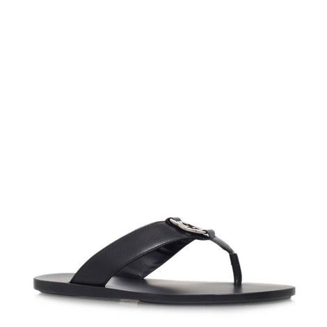 GG Leather Flip Flops, ${color}