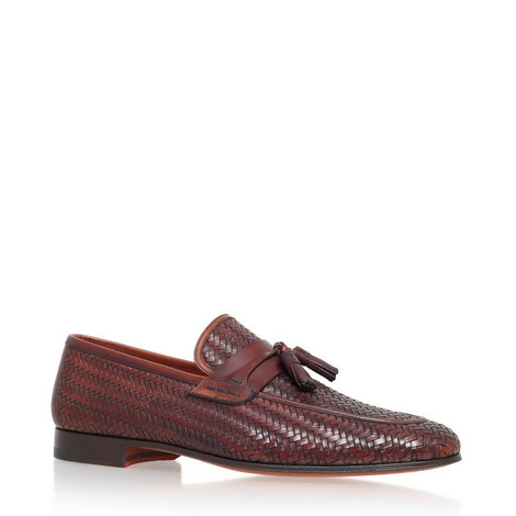 Woven Tasselled Loafers, ${color}