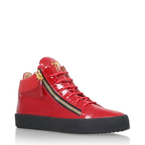 Patent High Top Trainers, ${color}