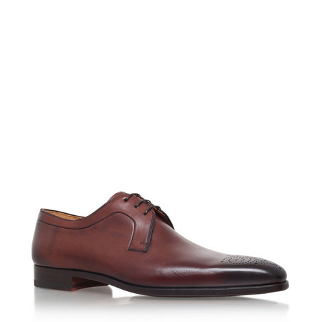 Punch Toe Derby Shoes, ${color}
