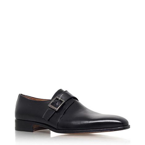 Cremona Single Monk Strap Shoes, ${color}