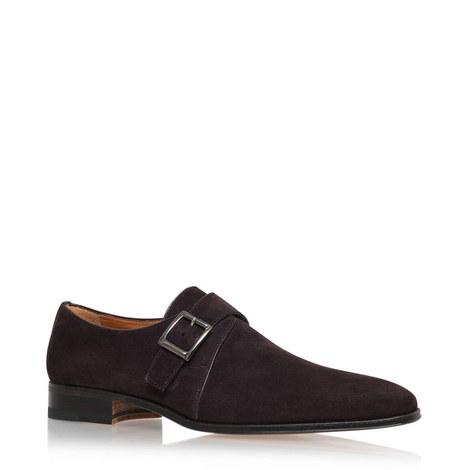 Single Monk Strap Shoes, ${color}
