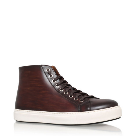Leather High Top Trainers, ${color}