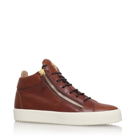 Daniel Mid Top Leather Trainers, ${color}