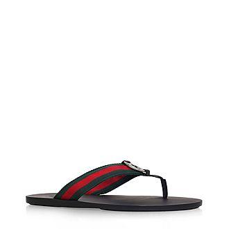 GG Web Thong Sandals
