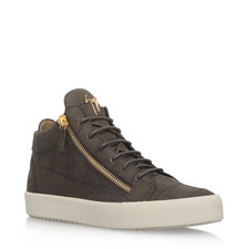 Embossed High Top Trainers